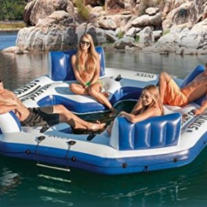 Intex Inflatable Floating Island Raft 4 Person River Lake