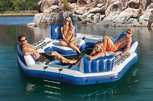 Intex Inflatable Floating Island Raft 4 Person River Lake